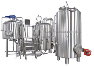 50-5000L Clean And Polish 2 Vessel Brewhouse Brewing Equipment Steel True Color