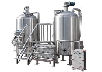 Customization Of Craft Beer Brewing Equipment , Durable Beer Production Line