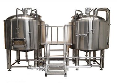 Sanitary Grade 2 Vessel Brewhouse Beer Brew House With CE Certification